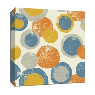 """PTM Images 9-153074  PTM Canvas Collection 12"""" x 12"""" - """"Circles Beige"""" Giclee Abstract Art Print on Canvas"""