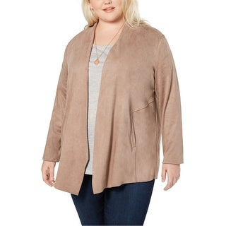 Link to Style & Co. Womens Faux-Suede Jacket Similar Items in Women's Outerwear
