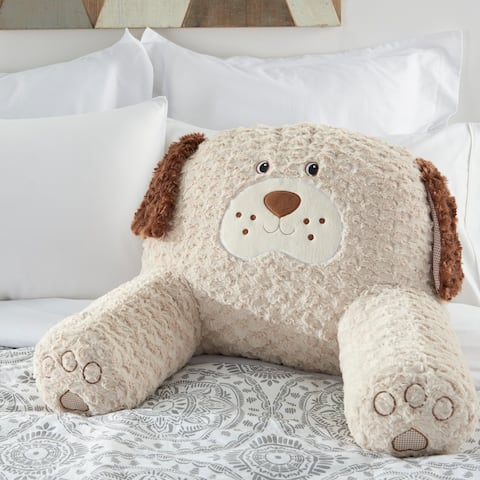 "Mina Victory Plush Animals & Rugs Animals BEIGE Throw Pillow , ( 21"" X 16"" )"