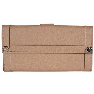 Gucci Women's 231839 Beige Leather GG Guccissima Continental Wallet Clutch