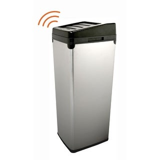 iTouchless IT14SC 52 Liter Touchless Trashcan Square Stainless