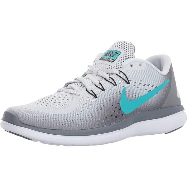 5bc8b810785f Shop Nike New Women s Flex 2017 Rn Running Shoe Platinum Jade 7.5 - Free  Shipping Today - Overstock - 25593302