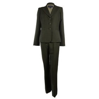 Evan Picone Women's St. Morritz Tonal Striped Pant Suit - 16