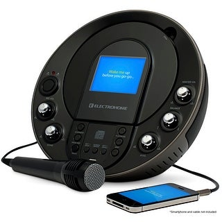 """Electrohome Karaoke Machine Portable Speaker System CD+G/MP3+G Player with 3.5"""" Video Screen, 2 Microphone Connections"""