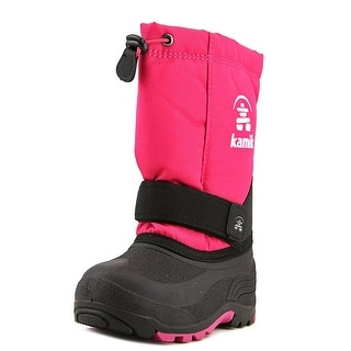 Kamik Rocket Youth Round Toe Canvas Pink Winter Boot