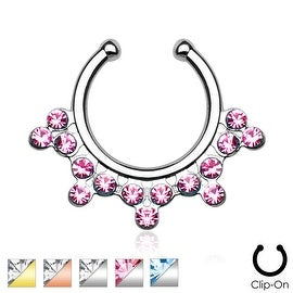 Snowflake with Gems Non-Piercing Septum Hanger (Sold Ind.)