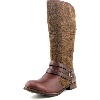 Caterpillar Sabrina Round Toe Canvas Knee High Boot|https://ak1.ostkcdn.com/images/products/is/images/direct/7f63913ca11421587dd80ad52f54be0d375979fd/Caterpillar-Sabrina-Women-Round-Toe-Canvas-Brown-Mid-Calf-Boot.jpg?impolicy=medium