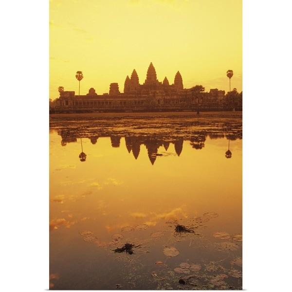 """""""Angkor Wat Temple at Sunrise, Cambodia"""" Poster Print"""