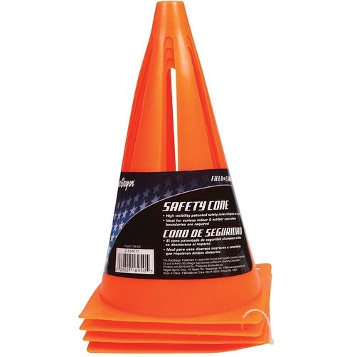 "MacGregor 40-16950 Field Safety Cone, PVC, Orange, 9"" Tall"