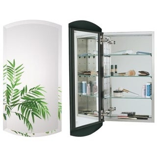"Alno MC4335 Euro 15"" x 30"" Single Door Recessed Medicine Cabinet with Stainless Steel Interior and Beveled Arched Mirror"