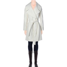 T Tahari Womens Wool Oversized Coat