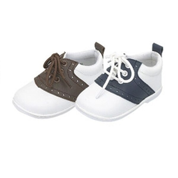 f26d8e061ccf1 Toddler Boys Navy White Lace Up Trendy Saddle Shoes Size 5