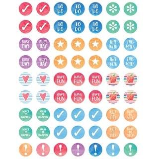 (12 Pk) Watercolor Mini Stickers