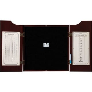 Viper Hudson Sisal Bristle Steel Tip Dartboard Cabinet, Mahogany Finish / 40-0262