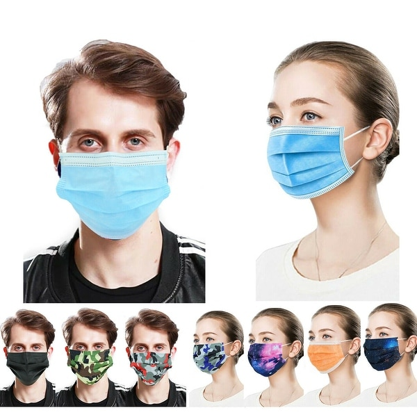 50 PcsFace Cover Masks 3Ply Layers with Earloop, Breathable Non-Woven. Opens flyout.