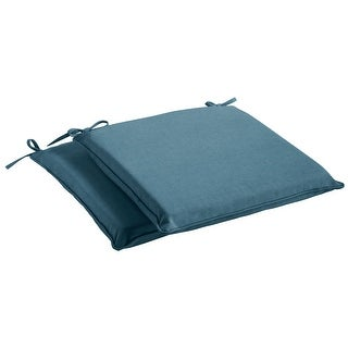 Sunbrella Denim Blue Indoor/Outdoor Chair Pad Set, Corded