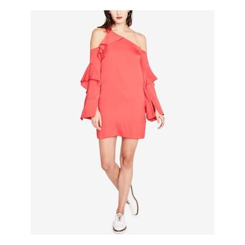 RACHEL ROY Womens Red Long Sleeve Mini Shift Cocktail Dress Size 2
