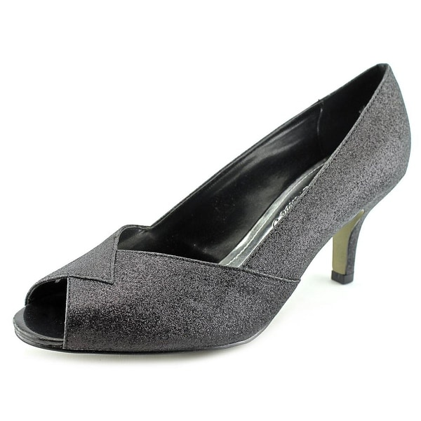 Easy Street Ravish Womens Black Glitter Pumps