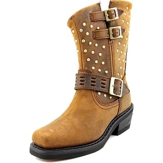 Harley Davidson Shirley Women   Leather Brown Motorcycle Boot