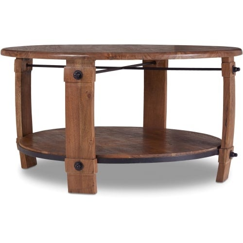Hooker Furniture 5513 80111 MWD 38 Inch Diameter Acacia Wood Coffee Table  From T   Free Shipping Today   Overstock.com   24902256