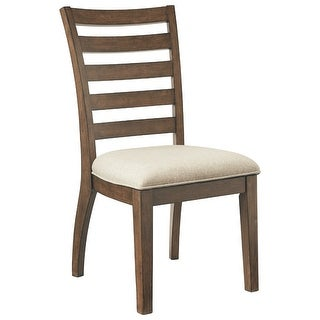 Ashley Furniture Light Brown Burnished Finish Dining UPH Side Chair Set of 4