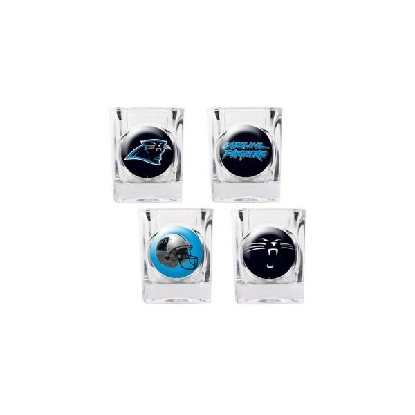newest 30496 a3ee0 Great American Products Carolina Panthers Shot Glass Set 4pc Collectors  Shot Glass Set
