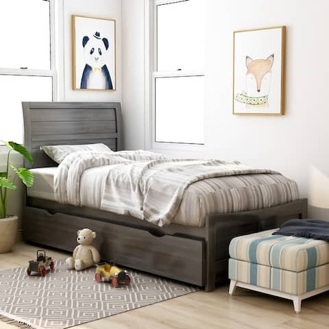 Furniture of America Wese Transitional Grey Bed and Trundle Set