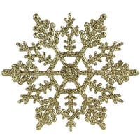 4 in. Snowflake Christmas Ornaments, Gold - Pack of 240