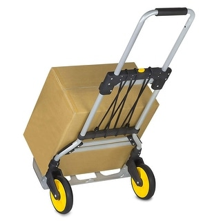 Mount-It! Folding Hand Truck/Luggage Cart With Telescoping Handle and Rubber Wheels - MI-902
