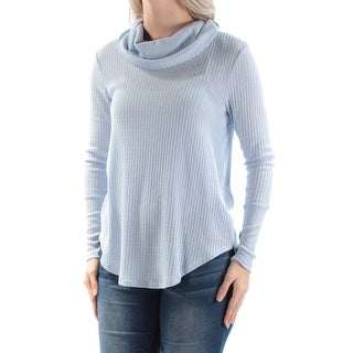 ULTRA FLIRT Womens New 1128 Light Blue Textured Sweater S Juniors B+B