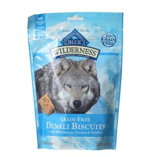 Blue Buffalo Wilderness Grain-Free Denali Biscuits Wild Salmon Venison and Halibut 8 oz