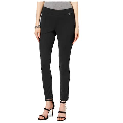 Tommy Hilfiger Pull-On Ponte Skinny Pants, Black, Medium