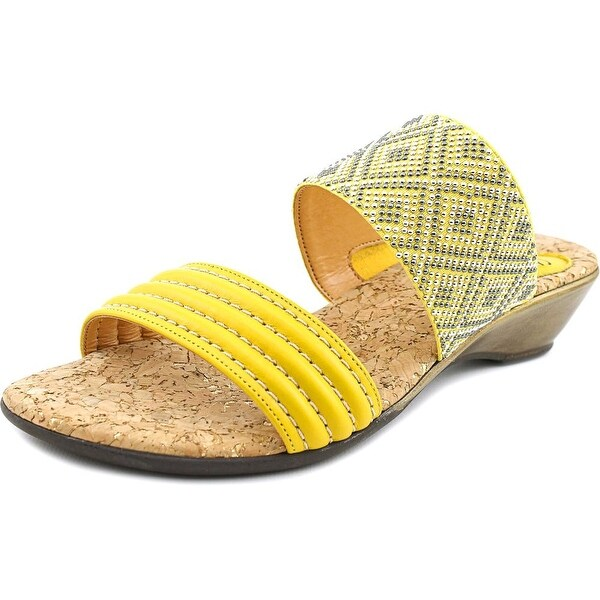 Love and Liberty Dawn Open Toe Canvas Wedge Sandal