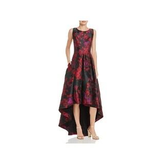Eliza J Womens Evening Dress Floral Hi-Low