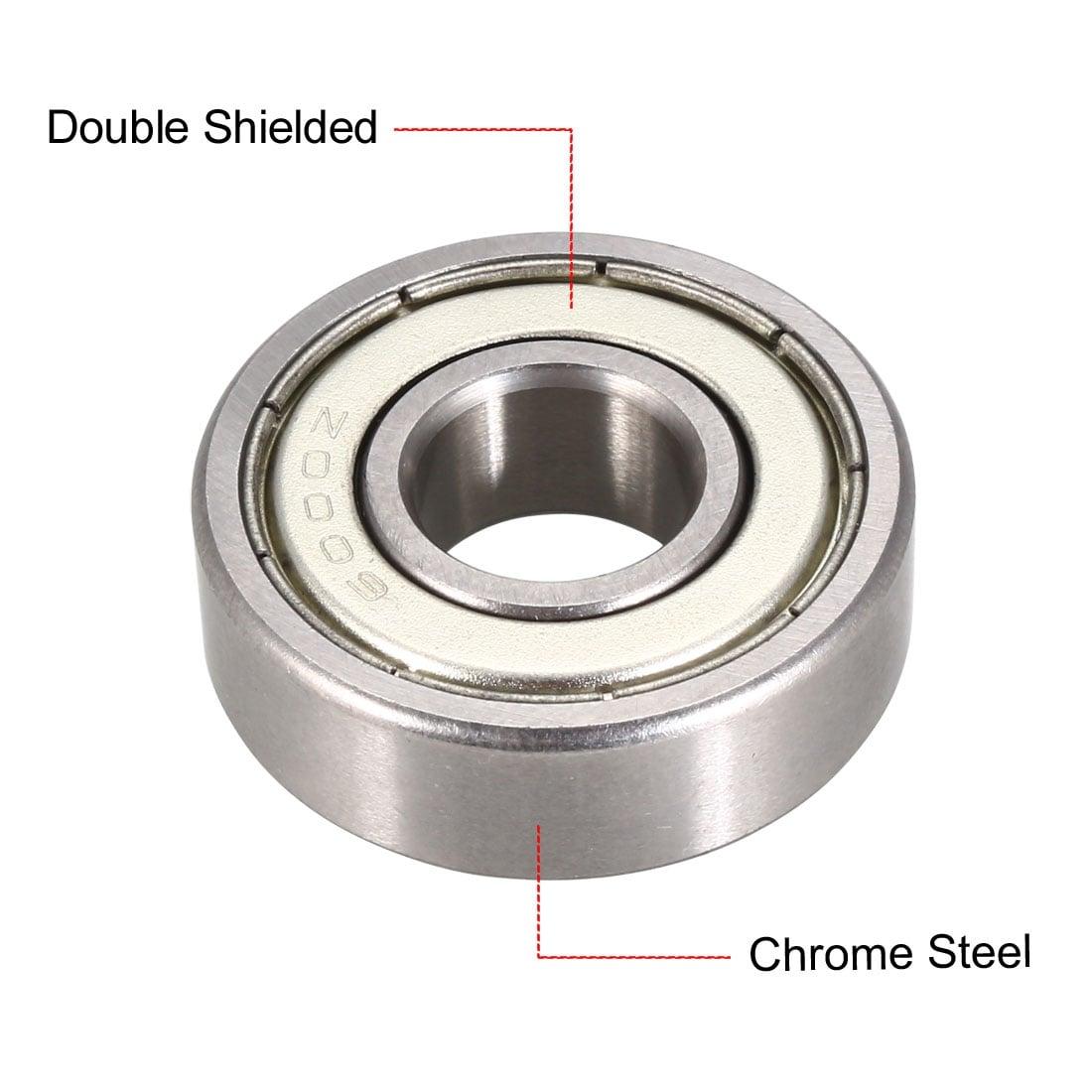 Double Metal Shielded Ball Bearing 6000Z 25 PCS 6000ZZ 10x26x8 mm