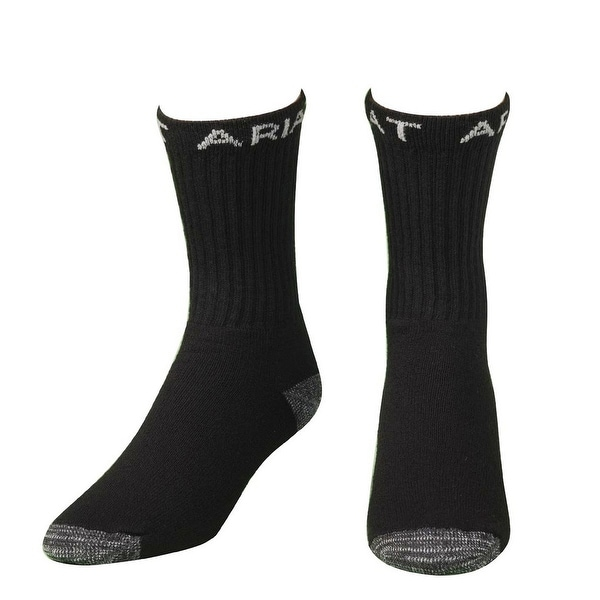 Ariat Socks Mens Work Boot Crew 3 pack Reinforced Black