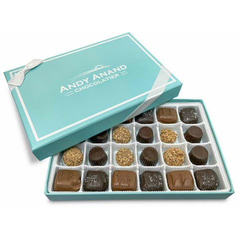 Andy Anand Luscious Buttery Caramel Chocolate 24 Pcs 12 Oz Box