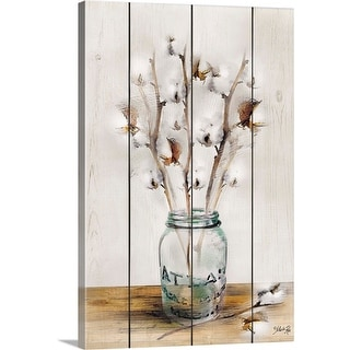 Marla Rae Solid-Faced Canvas Print entitled Cotton Stems