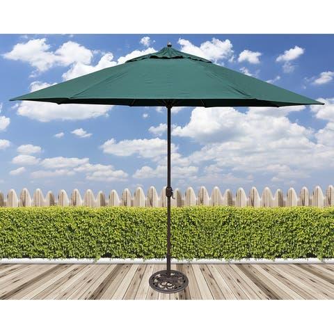 Tropishade 11' Aluminum patio umbrella with Green Olefin Canopy
