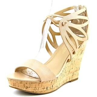 Ivanka Trump Hopela Women  Open Toe Leather  Wedge Sandal