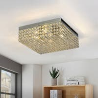 Under 6 Inches Crystal Flush Mount Lights Find Great Ceiling Lighting Deals Shopping At Overstock