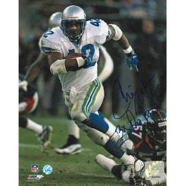 "Chris Warren Seattle Seahawks Autographed 8x10 Photo Inscribed ""3X Pro Bowl"""