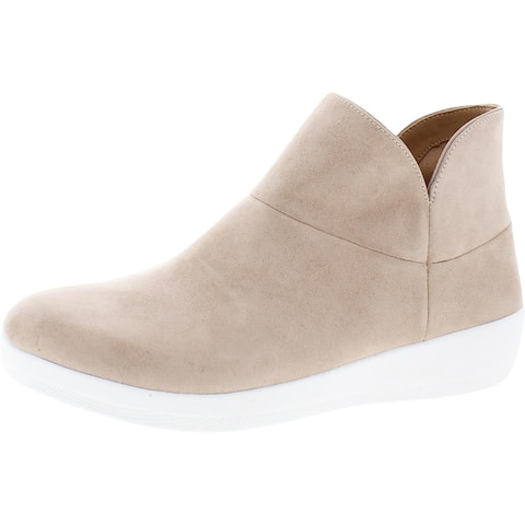 Fitflop Womens Valorie Ankle Boots Booties Wedge - Cool Taupe