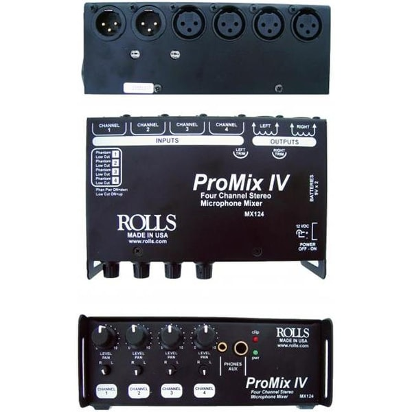 Rolls MX124 ProMix IV 4 Channel Stereo Microphone Mixer