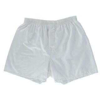 Fruit of the Loom Men's White Boxer Shorts Underwear (5 Pair Pack)