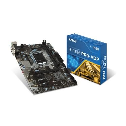 MSI USA H110M PRO-VD PRO Desktop Motherboard H110M PRO-VD Desktop Motherboard