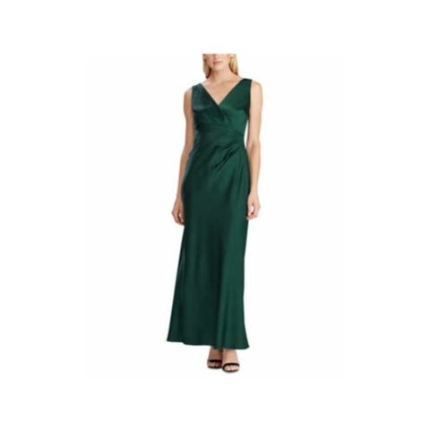RALPH LAUREN Green Sleeveless Full-Length Sheath Dress Size 8
