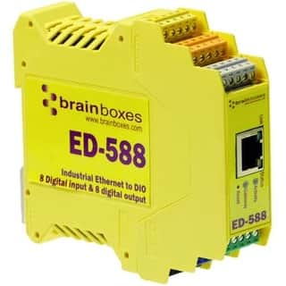Brainboxes ED-588 Brainboxes ED-588 Ethernet to Digital IO 8 Inputs + 8 Outputs - 1 x Network (RJ-45) - 1 x Serial Port - Fast|https://ak1.ostkcdn.com/images/products/is/images/direct/7f6f8014136c59b1d938d53f3b8a00fe91339966/Brainboxes-ED-588-Brainboxes-ED-588-Ethernet-to-Digital-IO-8-Inputs-%2B-8-Outputs---1-x-Network-%28RJ-45%29---1-x-Serial-Port---Fast.jpg?impolicy=medium