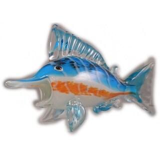 "Sea Creations Marlin Glass Figurine 9"" Blue"