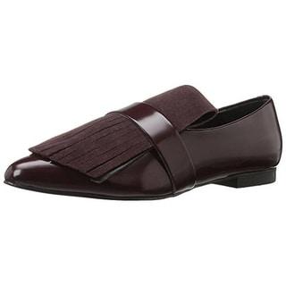 Marc Fisher Womens Shonda Loafers Leather Flats - 6 medium (b,m)